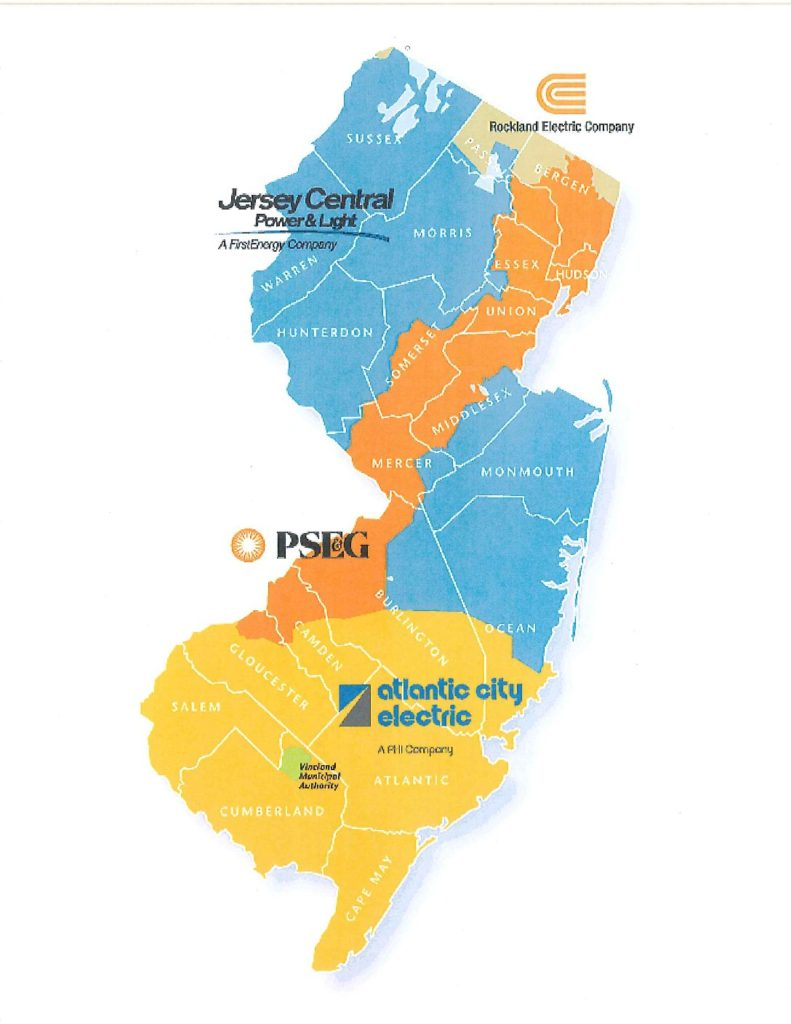 New Jersey Utility Map